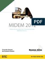 Informe de Resultado MIDEM 2012