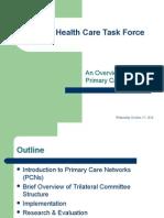 PHC Task Force Presentation - Oct 25