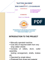 Presentation-Slitting Machine