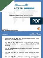CVE 2012-1889 Microsoft XML core services uninitialized memory vulnerability