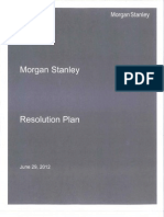 DEATHWATCH POSSIBLY-MORGAN STANLEY PUBLISHES LIVING WILL-JULY 2012