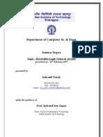Seminar (Reversible Logic Circuit)   Indranil Nandy