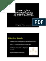 AdaptaÇÕes Neuromusculares Ao Treino Da ForÇa - Fmh