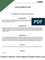 DECRETO DEL CONGRESO 22-2008_pdf Ley de Violencia Contra La Mujer