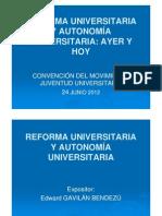 GAVILÁN Edward - Reforma y Autonomía Universitaria