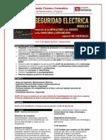 Seminario SEGURIDAD ELECTRICA - PROGRAMA Módulo III