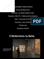 Modernismo Na Bahia
