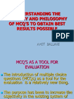Understanding the Anatomy and Philosophy of MCQ's
