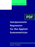 Yatchew a. Semiparametric Regression for the Applied Econometrician (CUP, 2003)(ISBN 0521812836)(235s)_GL
