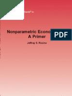 Racine J.S. Nonparametric Econometrics.. a Primer (Now Pub., 2008)(ISBN 1601981104)(103s)_GL