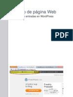 Diseño de página Web, Entradas en Wordpress