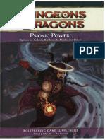 d&d 4e - Psionic Power