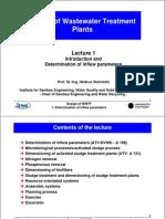 WWTP Inflow Parameters
