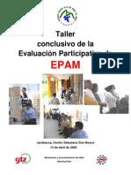 Taller Evaluacion Participativa EPAM