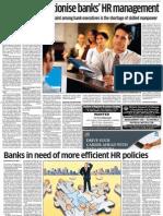 Efficient HR Policies for Banks