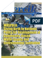 Indonesia Water and Sanitation Magazine. PERCIK First Edition August 2003. Giving Birth to National Policy for Development of Community-Based Water Supply and Environmental Sanitation (WASPOLA)