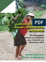 Informe Alternativo Derecho a la Alimentación Guatemala 2010