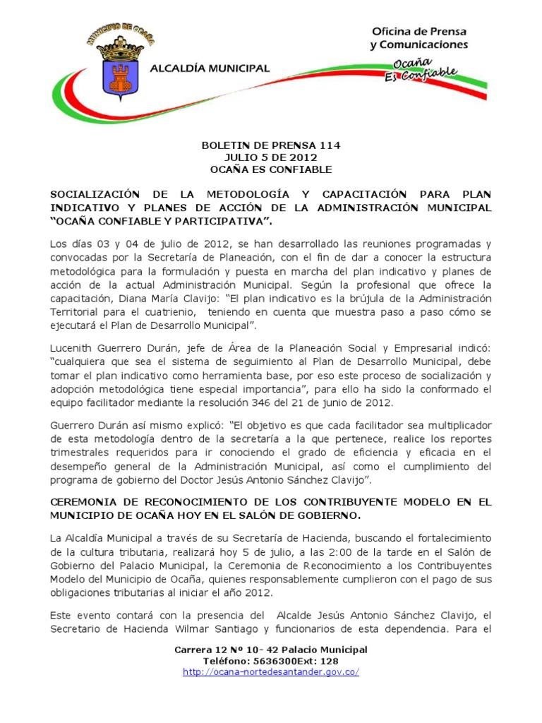 Boletin de Prensa 114