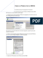 Como Crear Un Cluster en Windows Server 2008 R2 Paso A