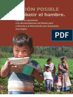 Misión posible, cambatir el Hambre en Guatemala 2009