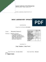 Chemistry Laboratory Format