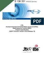 3GPP TS 36.331