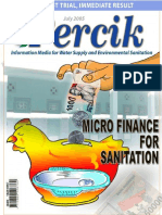 Microfinance for Sanitation. Indonesia Water Supply and Sanitation Magazine PERCIK July 2005.