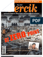 Indonesia Water Supply and Sanitation Magazine PERCIK May 2005. At Zero point