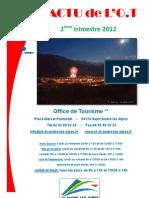L'Actu de l'OT Juillet 2012