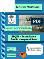 Human Factors in Aviation Maint