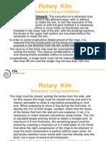 Rotary Kiln - Refractory Lining Installation