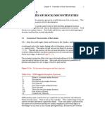 Properties of Rock Discontinuities