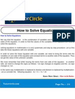 How to Solve Equations