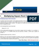 Multiplying Square Root Calculator