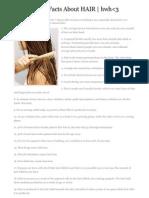 100 Random Facts About HAIR | hwh<3
