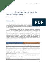 Orientaciones Para Un Plan de Lectura en Clase
