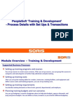 PeopleSoft Training Development - Business Processes in Detail