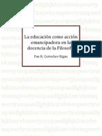 TFM_La educación como acción emancipadora en la docencia de la Filosofía_Pau Correcher Rigau