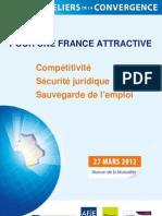 Pour une France attractive, Documentation & programme