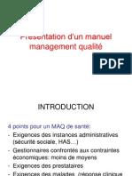 Présentation d'un manuel management qualité derniere version