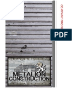 METALION CONSTRUCTION COMPANY PROFILE
