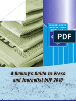 Guide to Press and Media Bill 2010
