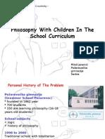 Philosophy With Children in the School Curriculum