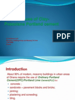 Structural Use of Portland Clay-Pozzolana Cement
