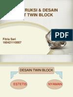 Konstruksi & Desain Twin Blok