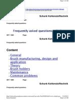 Schunk Brush Wear Info - Good Site