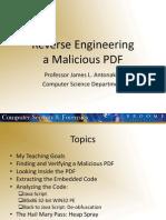 James Antonakos - Reverse Engineering a Malicious PDF