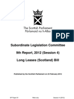 Subordinate Legislation Committee 9th Report, 2012 (Session 4)