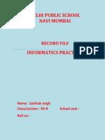 informatics practices class 12 record file cbse