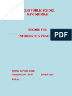 informatics practices class 12 record file cbse